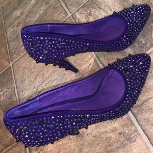 Purple Aldo studded heels